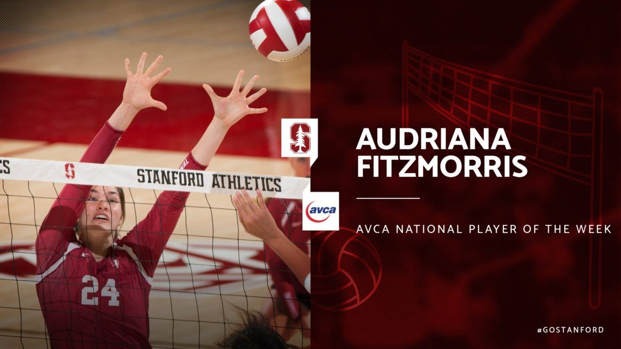 Stanford Freshman Fitzmorris named National Player of the Week