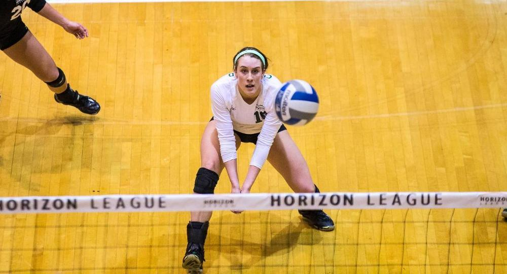 Grace Kauth's 1000th Dig Leads Cleveland State to Cherry & White Title