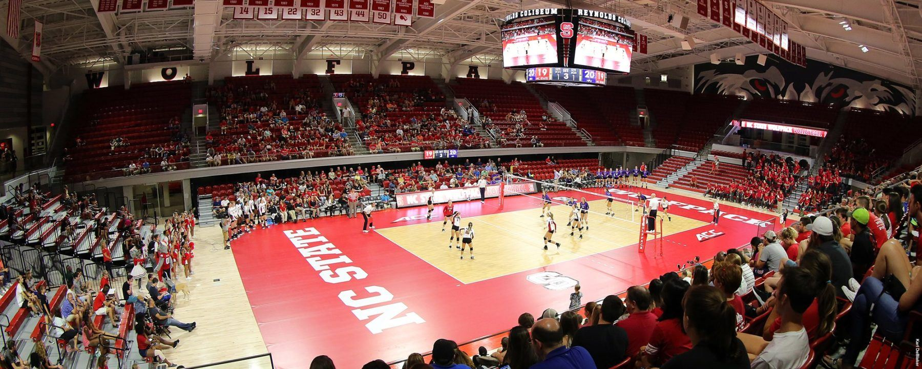 NC State Volleyball Opens Season In New Facility