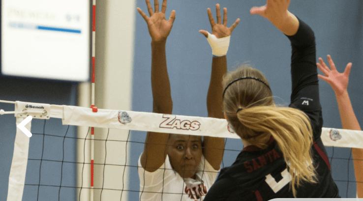 Gonzaga Sweeps Santa Clara in Home Opener