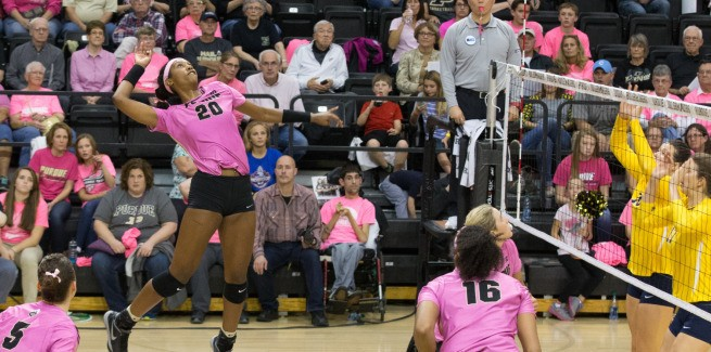 Purdue Downs No. 13 Michigan In Four Sets