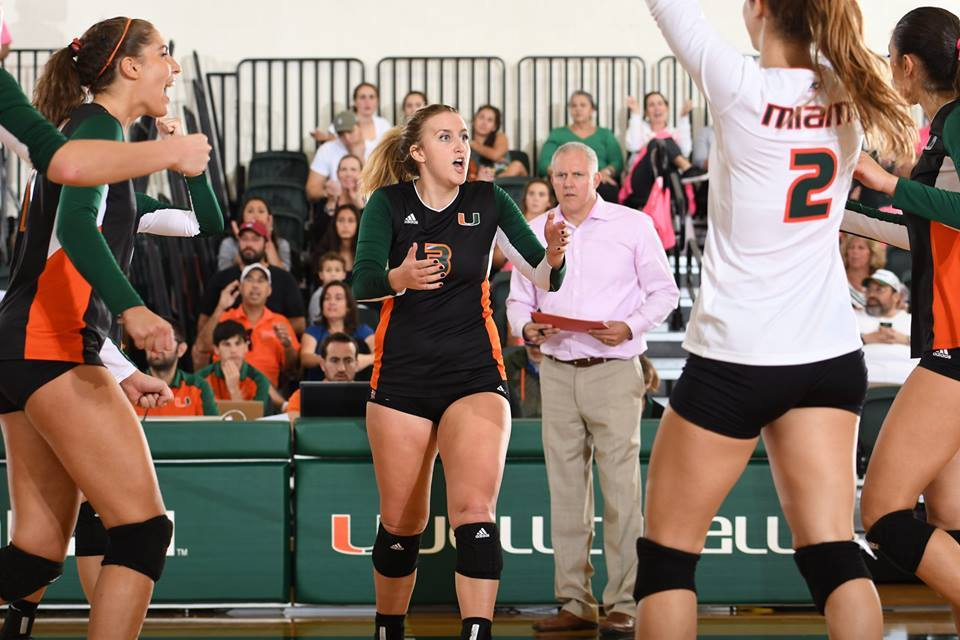 Miami Hitters Overpower Virginia in Sweep