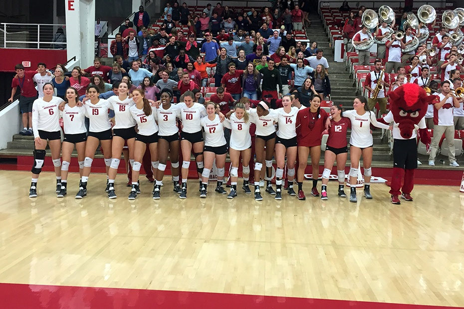 Arkansas Battles From Two Sets Down to Beat Georgia
