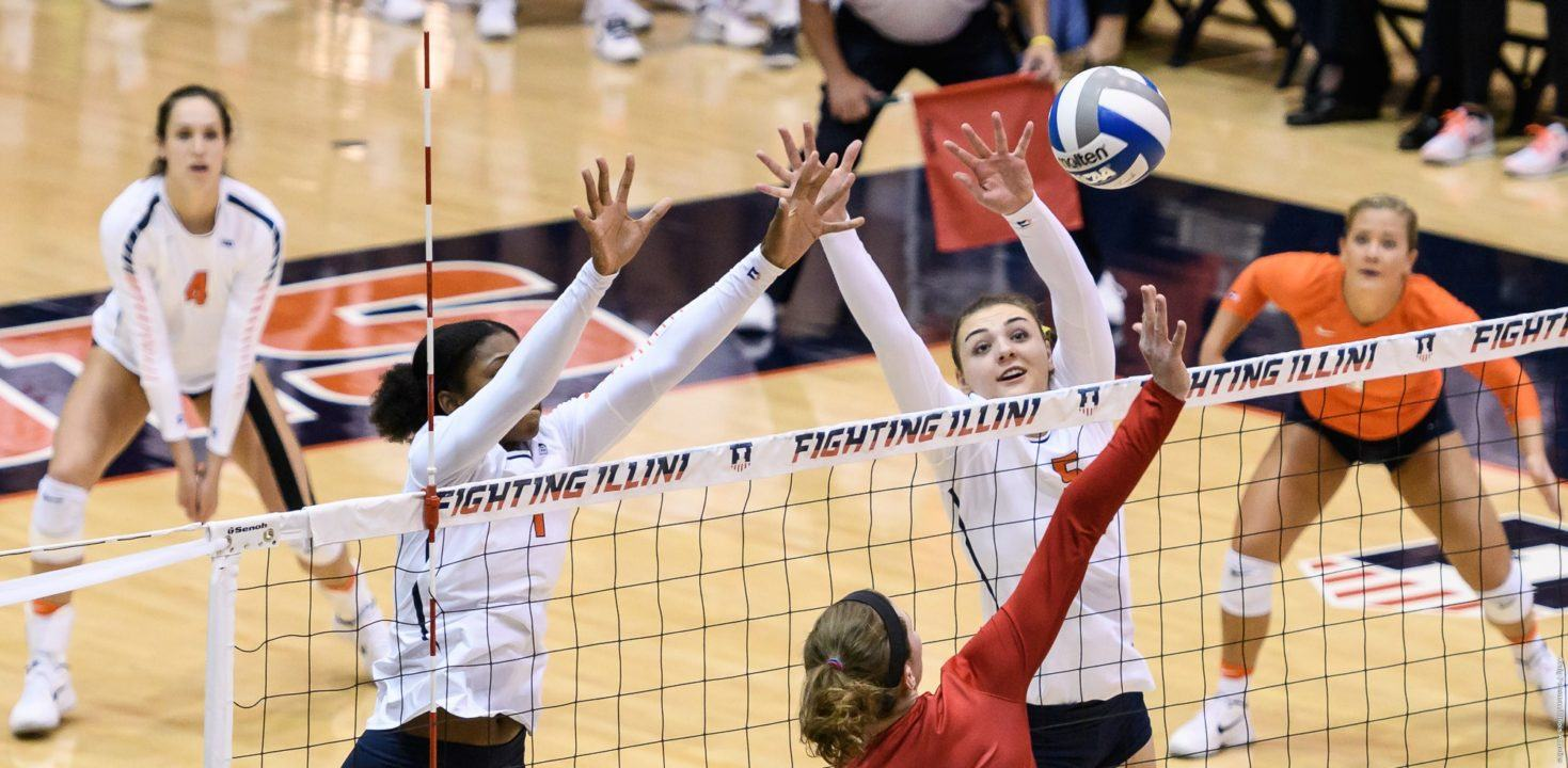 #24 Illinois Sweeps Northwestern 3-0 in Evanston (VIDEO HIGHLIGHTS)