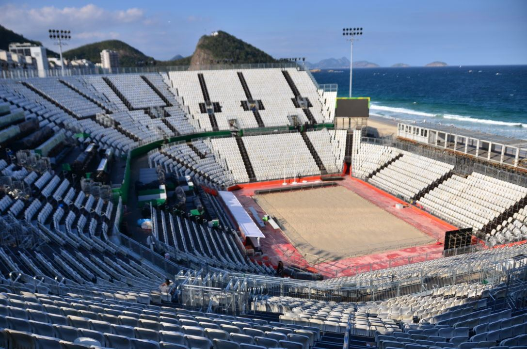 Worker Dies While Disassembling Olympic Beach Volleyball Arena