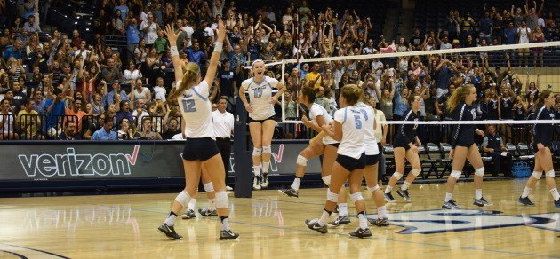 Middles Power #22 San Diego in Sweep of San Diego State