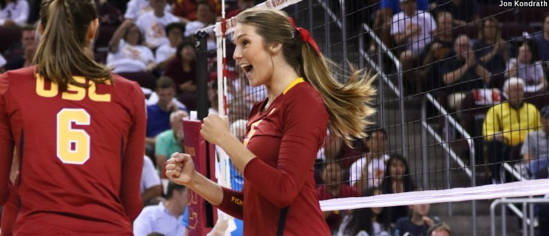 USC Upsets Oregon In Tough Four Set Battle