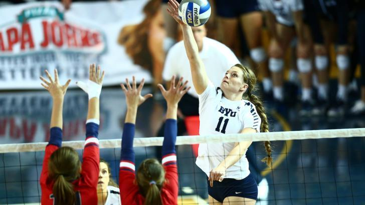 No. 13 BYU Crushes Saint Mary's In Straight Sets