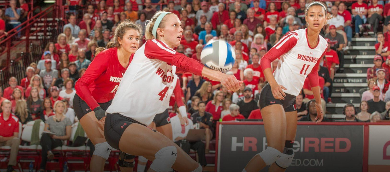 #3 Wisconsin Remains Undefeated in Big Ten After Sweeping Indiana