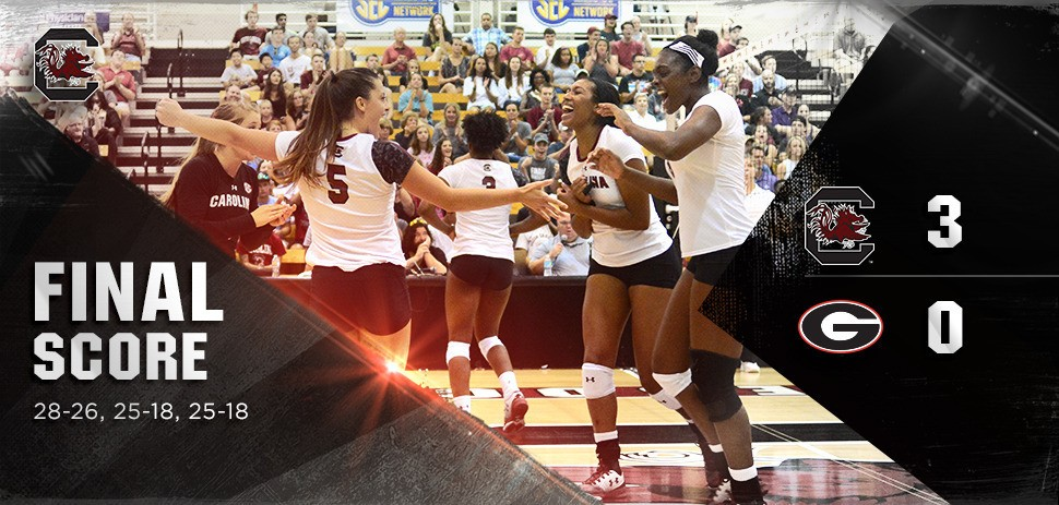 Gamecocks Down Georgia In Three Sets