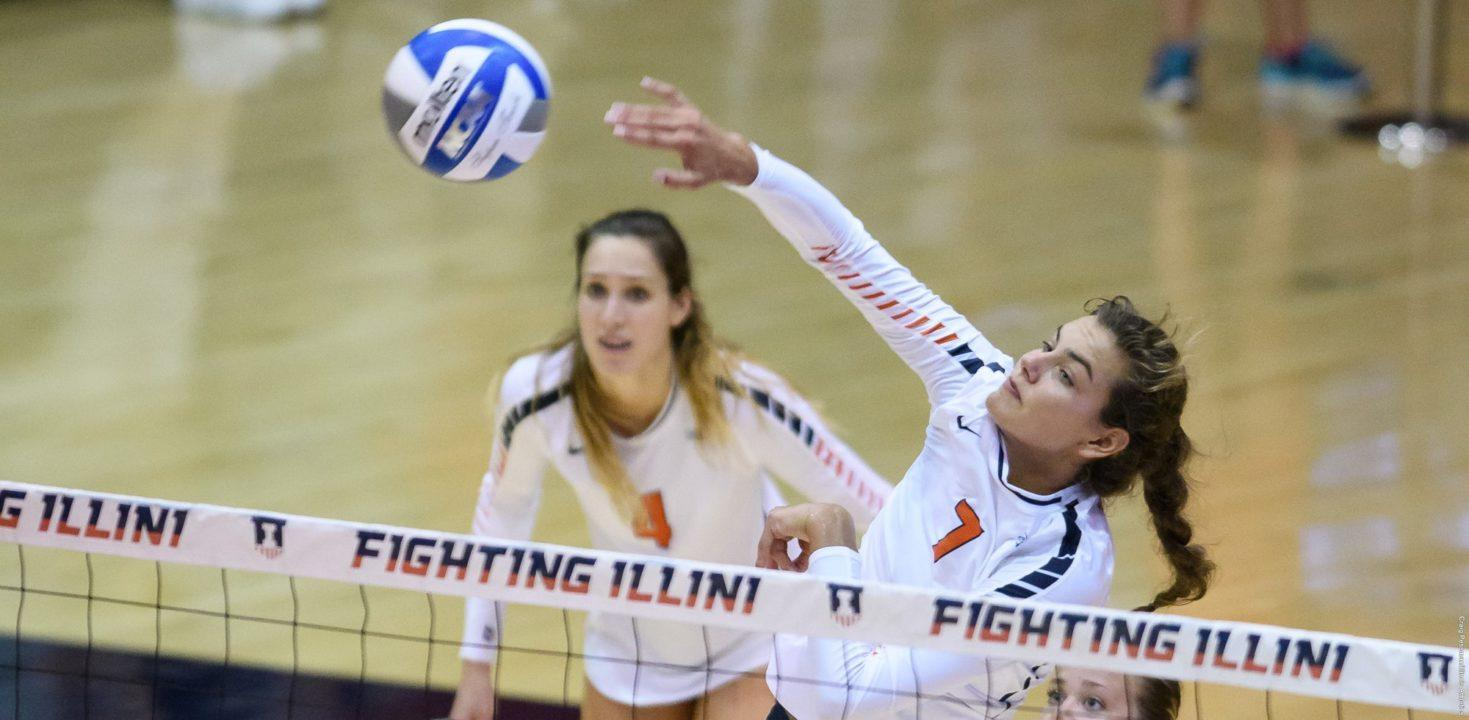 #11 Illinois Claims 5-Set Thriller Over Northern Colorado