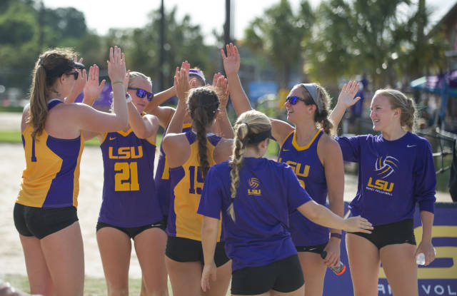 LSU Beach Wins Big In First Exhibition Of The Season