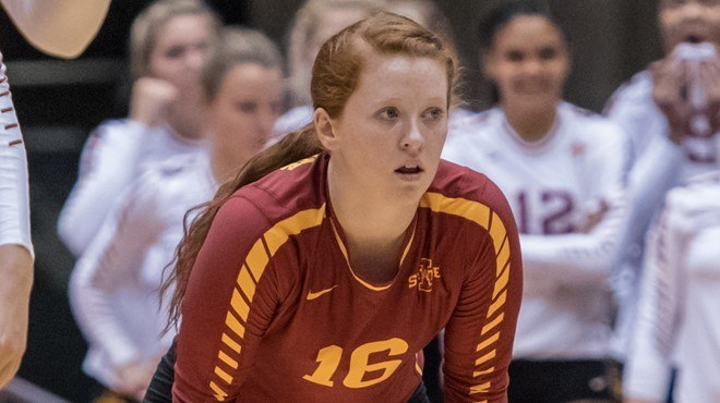 Hali Hillegas Logs 30 Digs In #23 Iowa State's Road Sweep of RV Wichita St.