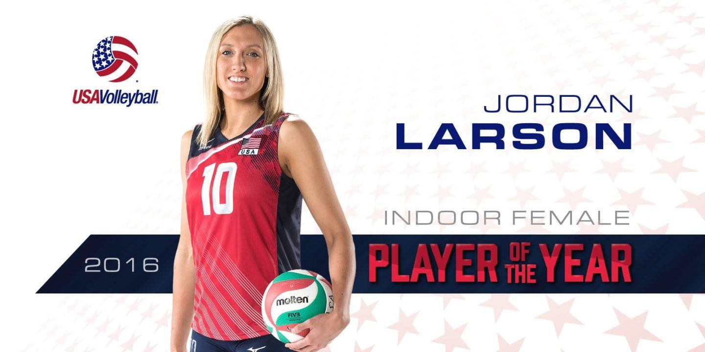Jordan Larson Named U.S. Indoor Female Player of the Year