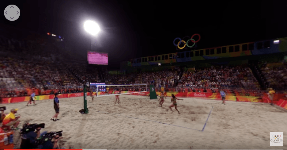IOC Publishes VR Experience Videos From Olympic Beach Volleyball