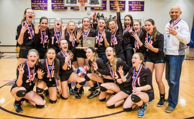 Champlain Girls and Boys Volleyball Win Double State Championships