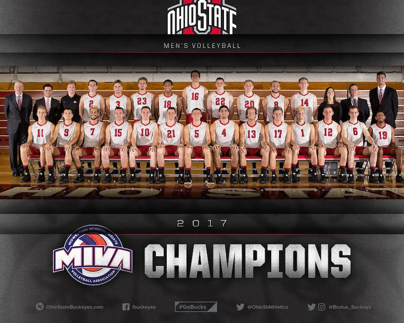 No. 1 Ohio State Men Win MIVA Title with Sweep