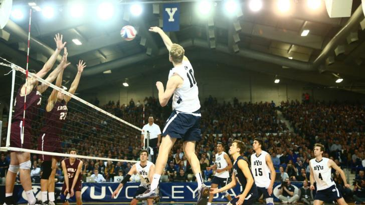 BYU Men Advance To Semifinals With Sweep Over Barton