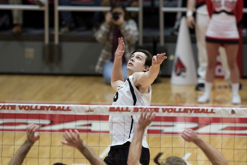 Ball State Beats Quincy 3-2 on Home Court