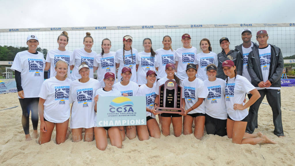 #4 Florida State Beats FIU 3-0 To Claim CCSA Beach Volleyball Title