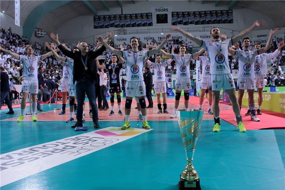 Tours VB Takes CEV Cup Over Diatec Trentino In 'Golden Set'