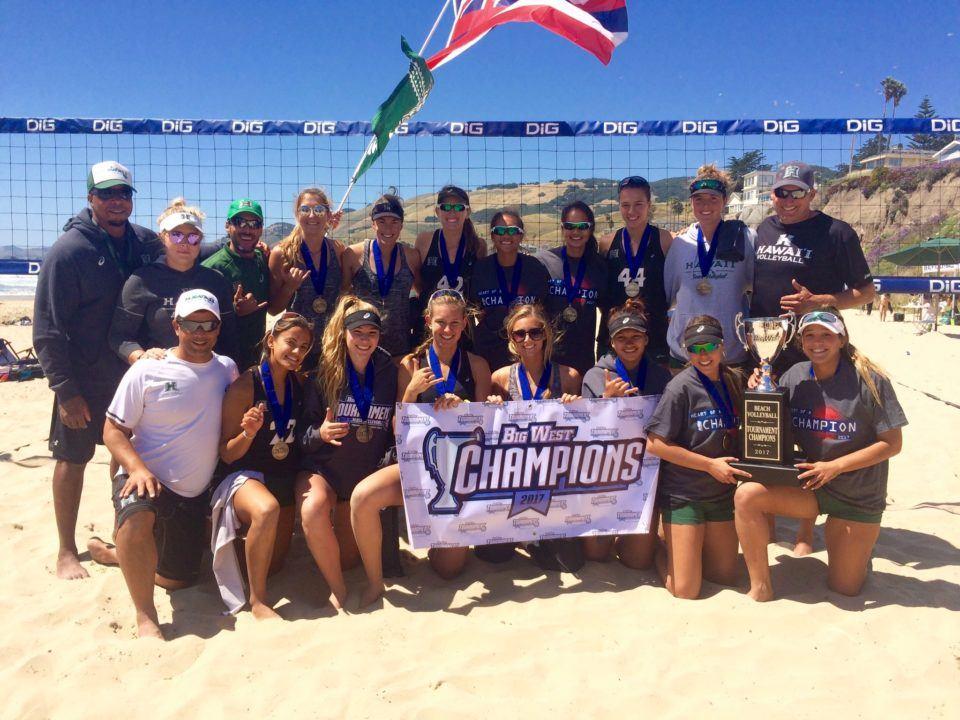 Hawaii Beats Long Beach State 4-1 to Claim 2017 Big West Beach Title