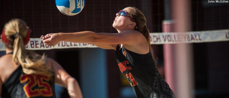 #1 USC Beat LMU to Open USAV Beach Collegiate Challenge