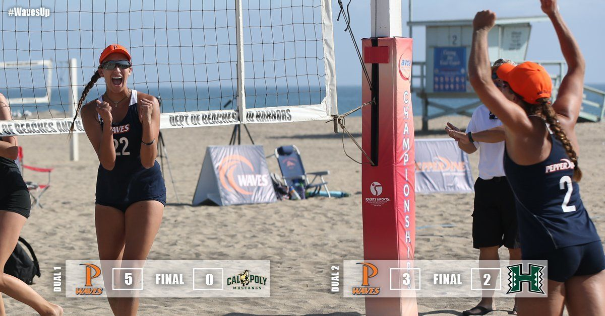 #2 Pepperdine Beach Opens With 2 Wins in Hawaii