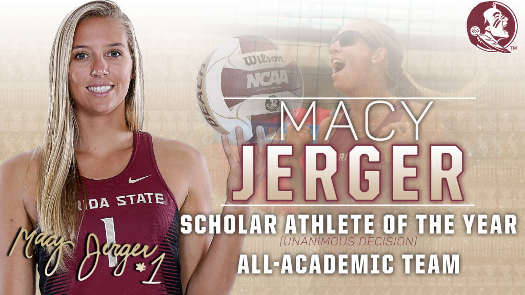 Florida State's Macy Jerger Named CCSA Scholar-Athlete Of The Year
