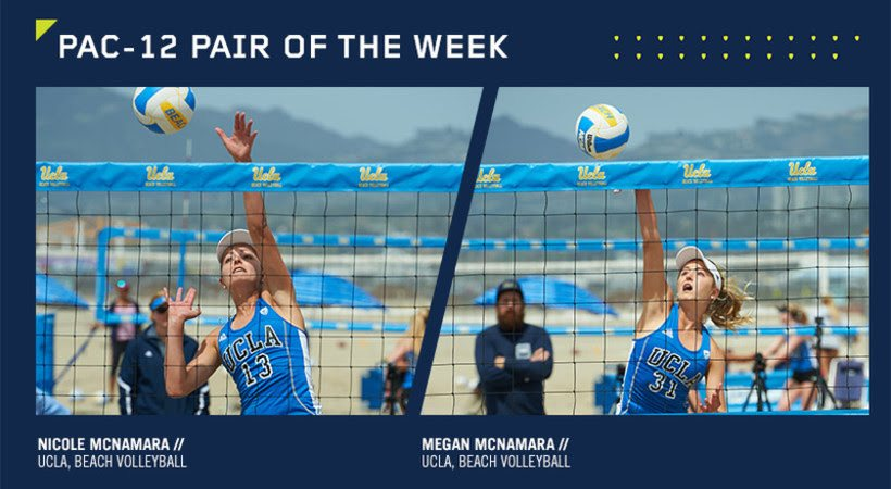 UCLA's McNamara Twins Earn Pac-12 Beach Pair Honors