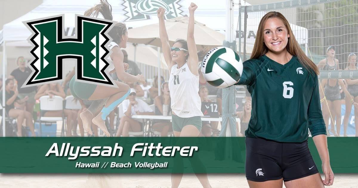 Michigan State Alum Allyssah Fitterer to Play Beach for Hawaii