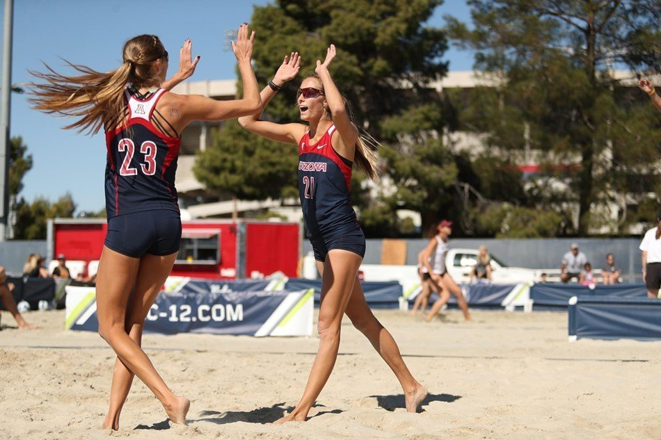 Arizona's Witt Twins Cruise Through Pool F Matches