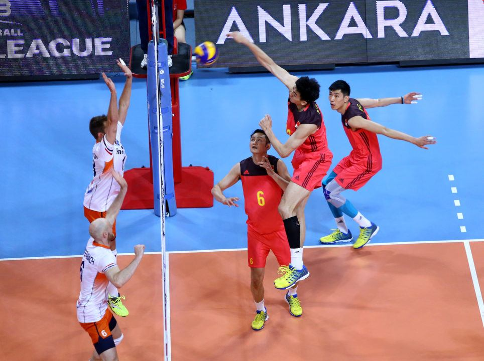 China's Chuan Jiang Has 52 Points in 2 World League Matches