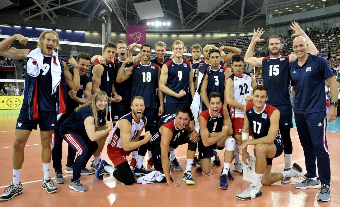 United States Men Make World League Final Six
