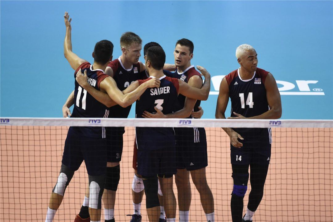 U.S. Men Yet to Concede Set in Pool F1 After Sweep of Russia