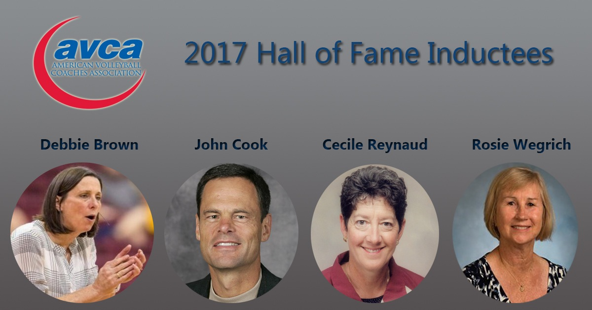 AVCA Announces 4 Inducties for 2017 Hall of Fame Class