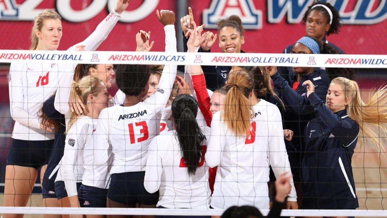 Arizona Logs 17 Combined Aces and Blocks in Sweep of Arizona State