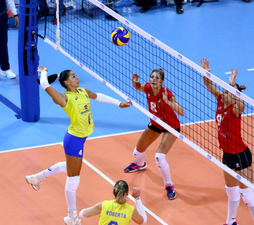 Brazil Out-Blocks Belgium 15-3 to Pick Up First Win in Pool A1