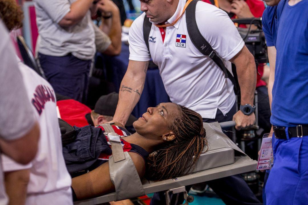 Brayelin Martinez Carried Off Court in FIVB World Grand Prix