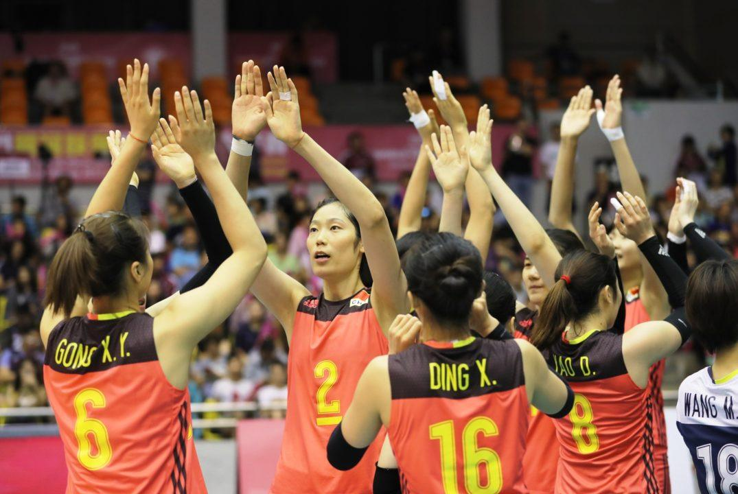 China is projected Number 1 in next FIVB Women's Rankings