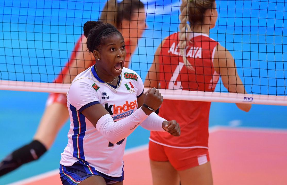 Italy Extends Winning-Streak to Five with Win vs. Turkey at FIVB WGP