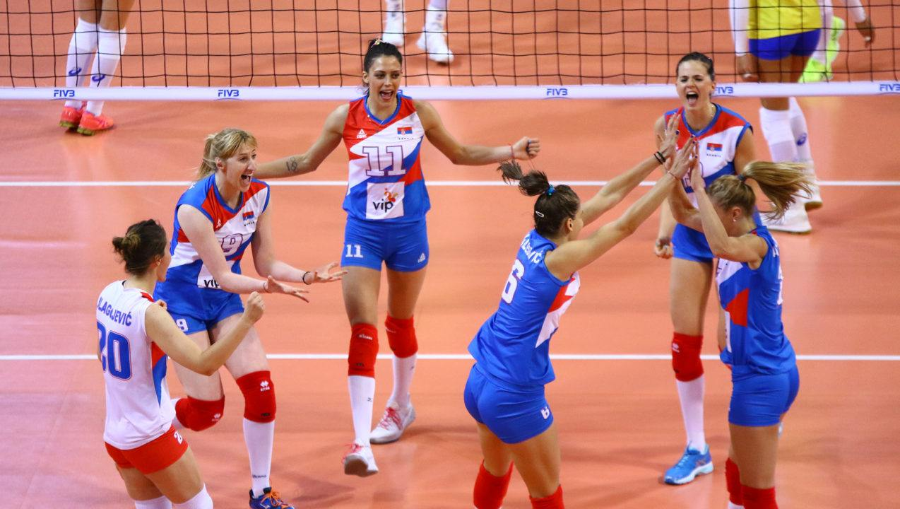 Serbia Clinches Spot in Final Six with Sweep of Russia