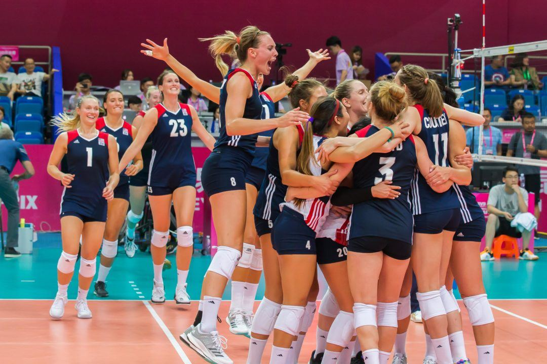 USA's Women Make Huge Fifth Set Comeback Over Russia At Grand Prix