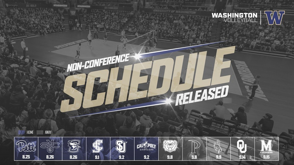 Washington Steps Up Non-Conference Schedule for 2017 Season
