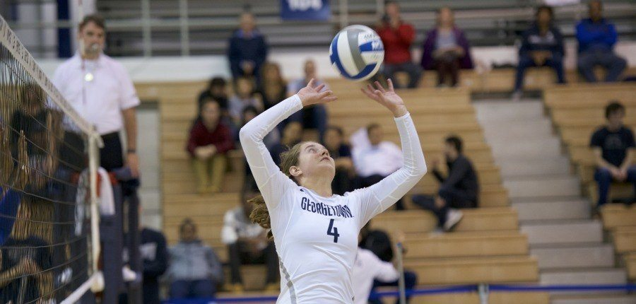 Georgetown Cruises To Three-Set Sweep Over The Citadel