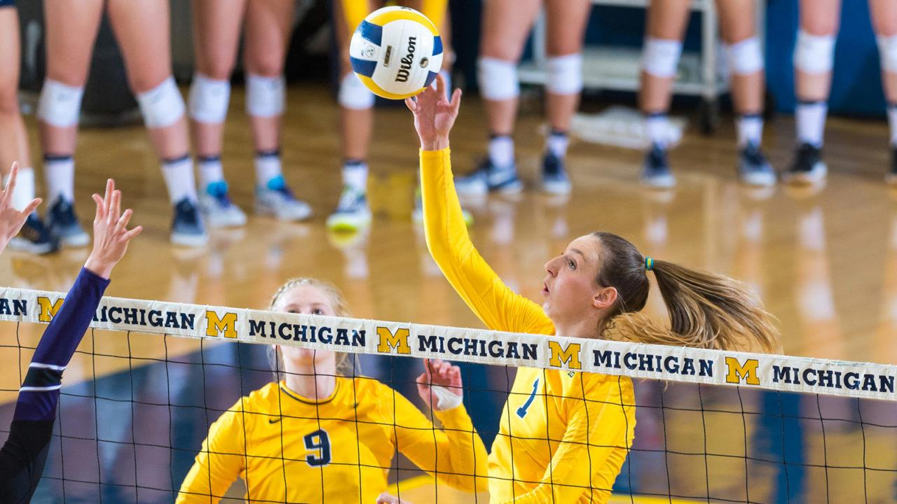 Season-Best Blocking Effort Lifts #21 Michigan to Sweep of Cincinnati