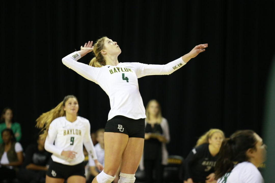 Staiger Downs 20 Kills as Baylor Wins Sixth Straight