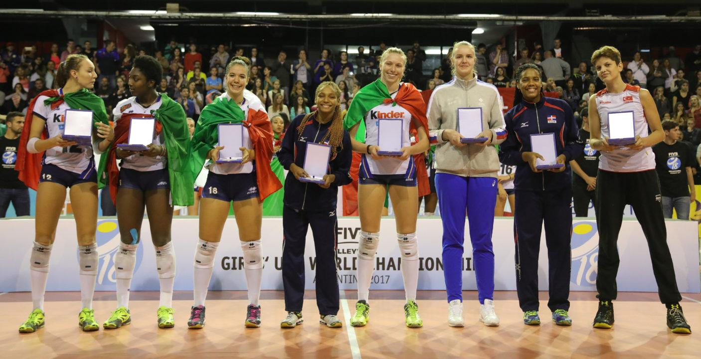 FIVB Girls' U18 Worlds' Dream Team and Statistical Leaders Announced