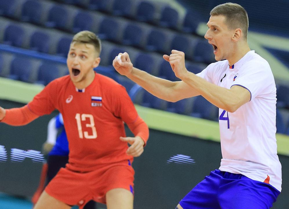 Russia Dominates in Win Against China in Day 3 of Men's U23 Worlds