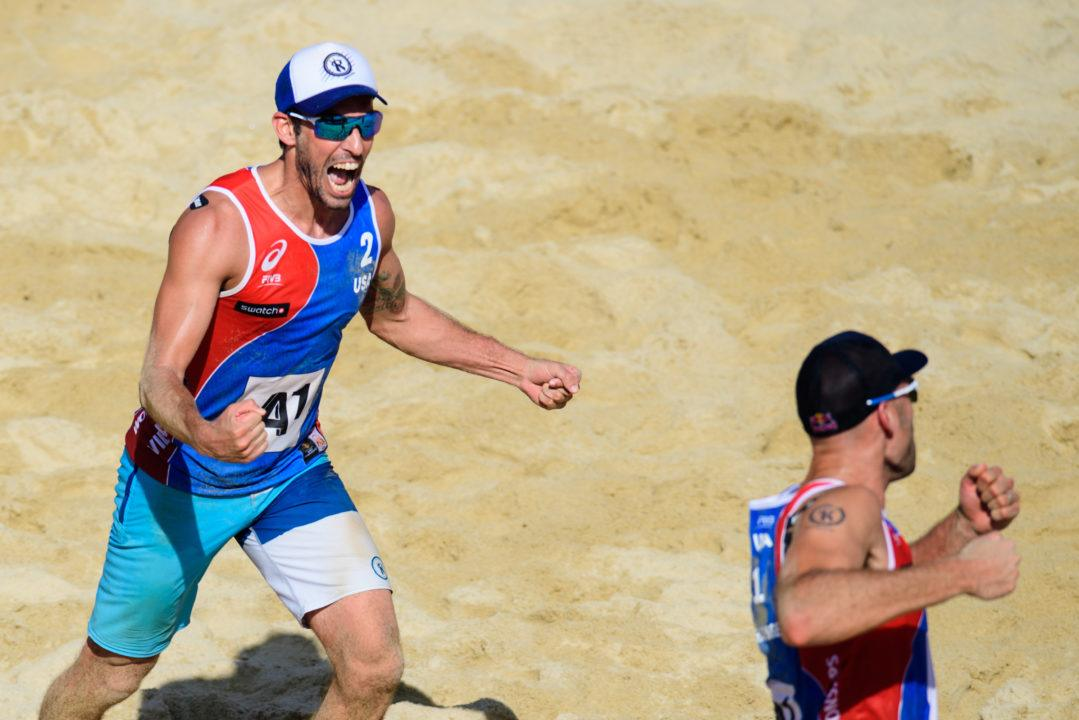 Dalhausser Finishes Wild Match With Two Blocks to Advance to Quarters